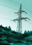 Иллюстрация линии электропередач Стоковая Фотография RF