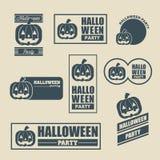 Иллюстрация логотипа партии хеллоуина Стоковое Изображение