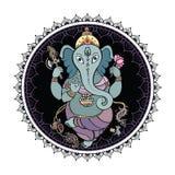 Иллюстрация лорда Ganesha Руки нарисованная Стоковые Фотографии RF