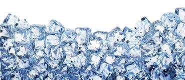 иллюстрация льда кубика предпосылки 3d реалистическая Путь клиппирования стоковые фото