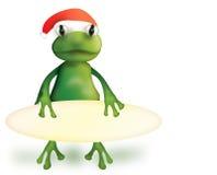 иллюстрация лягушки рождества Стоковые Фотографии RF