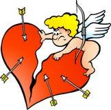 иллюстрация мальчика ангела amor сердитая Стоковое Изображение RF