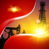 Иллюстрация месторождения нефти Стоковое фото RF