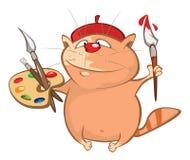 Иллюстрация милого кота головка дерзких милых собак персонажа из мультфильма предпосылки счастливая изолировала белизну усмешки Стоковое Изображение