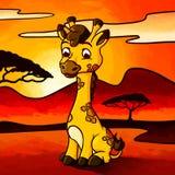 Иллюстрация милого маленького жирафа Стоковые Фото