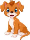Иллюстрация милого шаржа улыбки маленькой собаки бесплатная иллюстрация