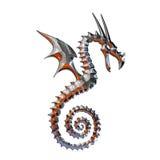 Иллюстрация мифического дракона Стоковая Фотография