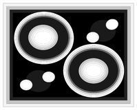 иллюстрация многоточий кругов Стоковое фото RF