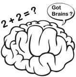 иллюстрация мозга Стоковые Фотографии RF