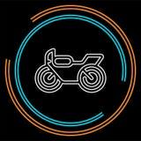 Иллюстрация мотоцикла вектора иллюстрация вектора