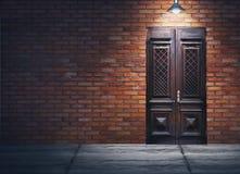 Иллюстрация мультимедиа темной улицы вечера Стоковое Изображение