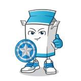 Иллюстрация мультфильма вектора талисмана руководителя молока бесплатная иллюстрация