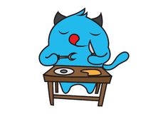 Иллюстрация мультфильма голубого чудовища бесплатная иллюстрация