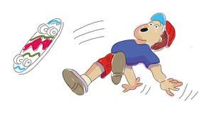 Иллюстрация мультфильма милого Se детей и характеров подростка большого иллюстрация штока