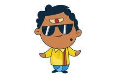 Иллюстрация мультфильма южного индийского человека иллюстрация штока