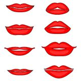 Иллюстрация набора женских губ бесплатная иллюстрация