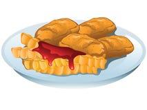 Иллюстрация наггетов цыпленка бесплатная иллюстрация