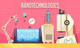 Иллюстрация нанотехнологий горизонтальная иллюстрация штока