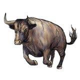 Иллюстрация нарисованная рукой быка Стоковые Фотографии RF