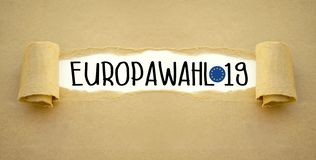Иллюстрация на европейское избрание 2019 стоковое изображение