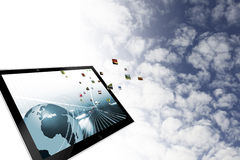 Иллюстрация облака вычисляя Стоковое Изображение RF
