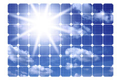 иллюстрация обшивает панелями солнечное Стоковое фото RF