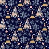 Иллюстрация орнамента торжества звезды снега в декабре сезона дизайна ели праздника рождественской елки зимы снежинки стоковая фотография