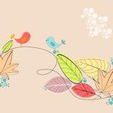 иллюстрация осени милая Стоковые Изображения