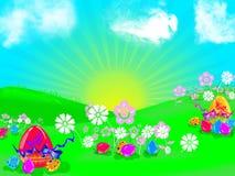иллюстрация пасхи Стоковые Изображения RF