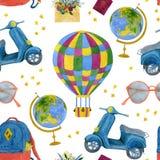 Иллюстрация перемещения акварели безшовная со звездами бесплатная иллюстрация