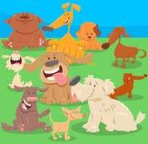 Иллюстрация персонажей из мультфильма собак или щенят Стоковое Изображение
