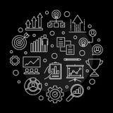 Иллюстрация плана вектора круга быстро развивающаяся компания бесплатная иллюстрация
