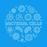 Иллюстрация плана концепции вектора бактериальных клеток круглая иллюстрация штока