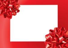 иллюстрация подарка рамки смычков Стоковое Изображение