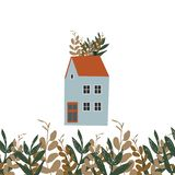 Иллюстрация показывает старый дом иллюстрация штока