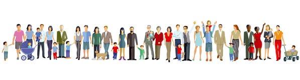 Иллюстрация поколений семьи Стоковые Изображения RF