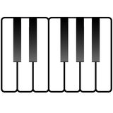 иллюстрация пользуется ключом рояль иллюстрация вектора