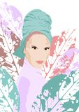 Иллюстрация попа модной девушки бесплатная иллюстрация