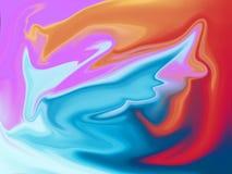Иллюстрация предпосылки абстрактной картины красочная Стоковое Изображение