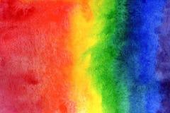 Иллюстрация предпосылки акварели Градиент радуги акварели на бумаге стоковые изображения rf