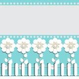 Иллюстрация предпосылки бумажных цветков праздничной для размещения текста Стоковое Фото