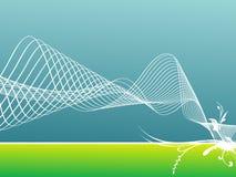 иллюстрация предпосылки голубая флористическая зеленая Стоковая Фотография RF