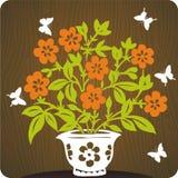 иллюстрация предпосылки флористическая Стоковые Фотографии RF