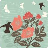 иллюстрация предпосылки флористическая Стоковое Изображение