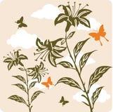 иллюстрация предпосылки флористическая Стоковая Фотография RF