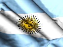Иллюстрация предпосылки 3d флага Аргентины бесплатная иллюстрация