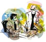 иллюстрация предпринимателей Стоковое Изображение RF