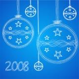 иллюстрация приветствию рождества карточки Стоковые Изображения