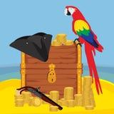 Иллюстрация приключения пирата иллюстрация штока