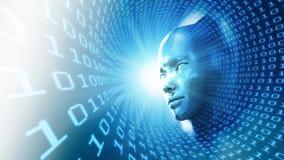 Иллюстрация принципиальной схемы искусственного интеллекта Стоковое Изображение